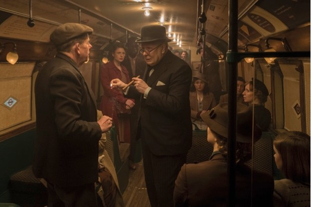 Churchill on the Underground in Darkest Hour