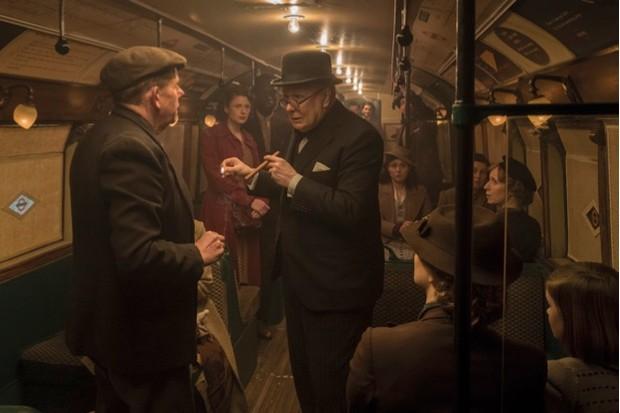 Churchill on the Underground in Darkest Hour