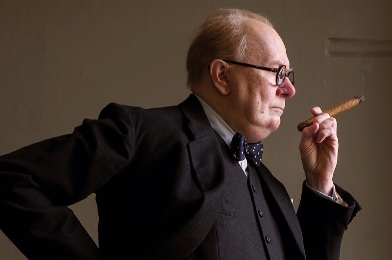 Gary Oldman portrays Winson Churchill in 'Darkest Hour'. (© 2017 FOCUS FEATURES LLC. ALL RIGHTS RESERVED)