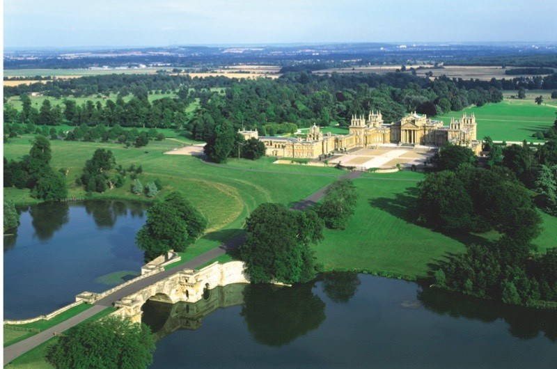 25 Jul 2001, Woodstock, Oxfordshire, England, UK --- Blenheim Palace and Parkland --- Image by © Skyscan/Corbis