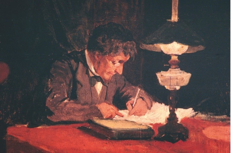 A letter-writer depicted by Janez Subic, c1878. (© Getty)