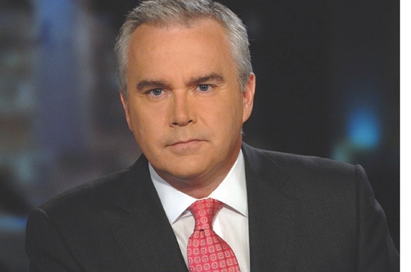 Huw Edwards in N9 news studio for the Ten O clock news (Photo by Jeff Overs/BBC News & Current Affairs via Getty Images)