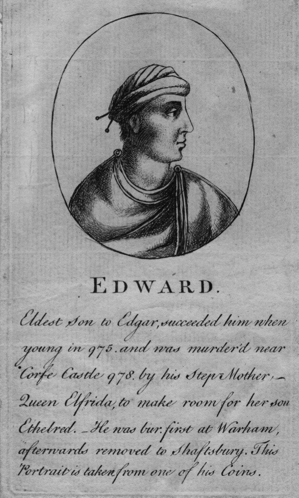 c975 AD, Edward the Martyr, Anglo-Saxon king of England and the elder son of King Edgar. (Photo by Hulton Archive/Getty Images)