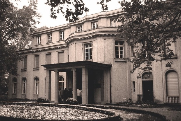 It was in this villa in the Berlin suburb of Wannsee that one of history's most infamous conferences was staged. (Getty)