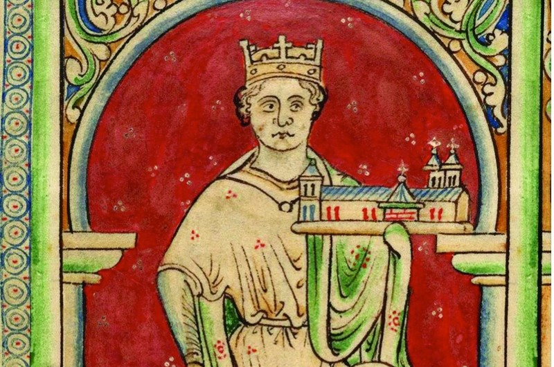 King John on the throne in a 13th-century illumination. The contention that his badness was a later invention simply doesn't stack up, argues Marc Morris. (Getty)