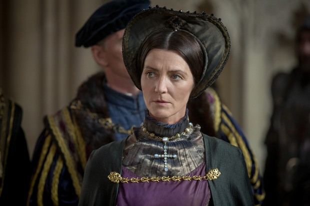 Michelle Fairley as Margaret Beaufort. (© Starz)