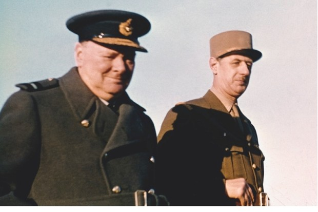 Winston Churchill (left) with Charles de Gaulle, c1944. The British prime minister encouraged Vichy's colonies to rally to the Free French leader. (Getty Images)