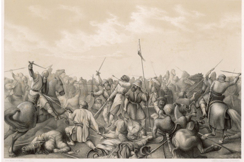 The battle of Stamford Bridge, 1066. (Mary Evans Picture Library/Alamy Stock Photo)