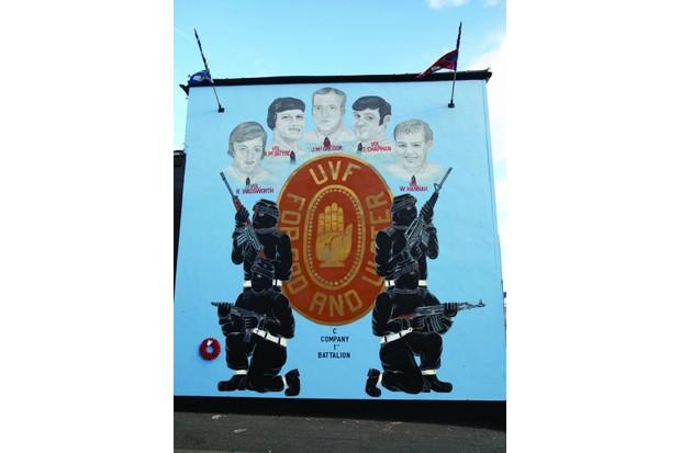 Belfast mural commemorating dead fighters of the Ulster Volunteer Force