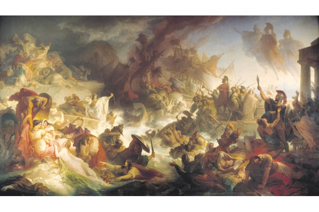 Greek warships clash with their Persian foes in Wilhelm von Kaulbach's 1868 depiction of the battle of Salamis, which has widely been hailed as a turning point in world history. (AKG)
