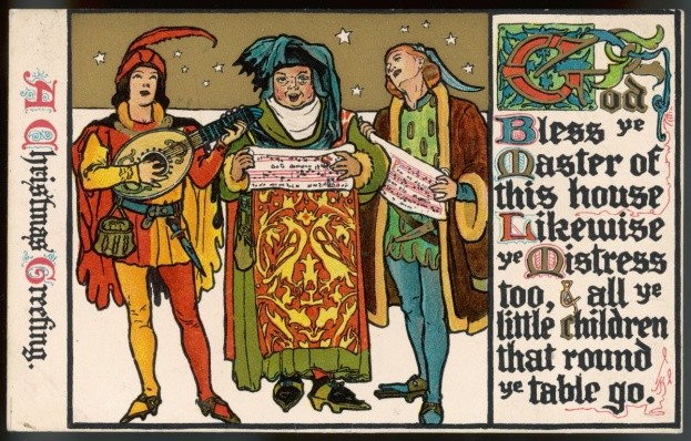 Medieval singers. (Photo by Mary Evans Picture Library/Alamy)