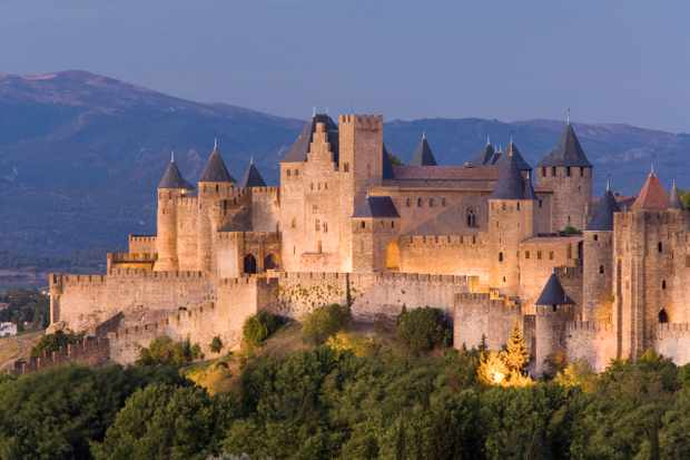 ANN6TY France Languedoc Roussillon Carcassonne La Cite of Carcassonne