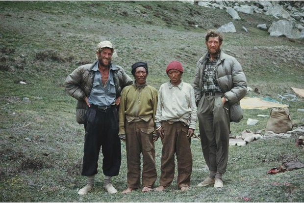 A photograph of Edmund Hillary and George Lowe