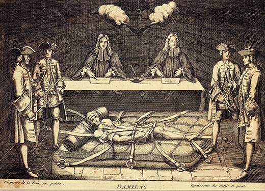 BFMJ62 Torture of Robert-Francois DAMIENS, 1715-57 French fanatic who in 1757 made an unsuccessful attempt on the life of King...