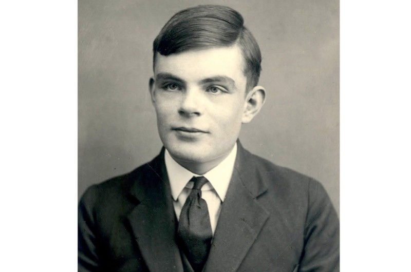 A photograph of Bletchley Park codebreaker Alan Turing (1912–54). (Photo by Fine Art Images/Heritage Images/Getty Images)
