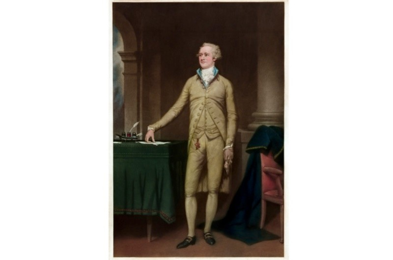 Alexander Hamilton was a founding father, statesman, veteran, political intellectual, economist and media tycoon, says Jem Duducu. Portrait by Thomas Hamilton Crawford. (Photo by GraphicaArtis/Getty Images)