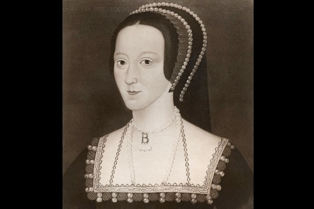 Portrait of Anne Boleyn, the second wife of Henry VIII