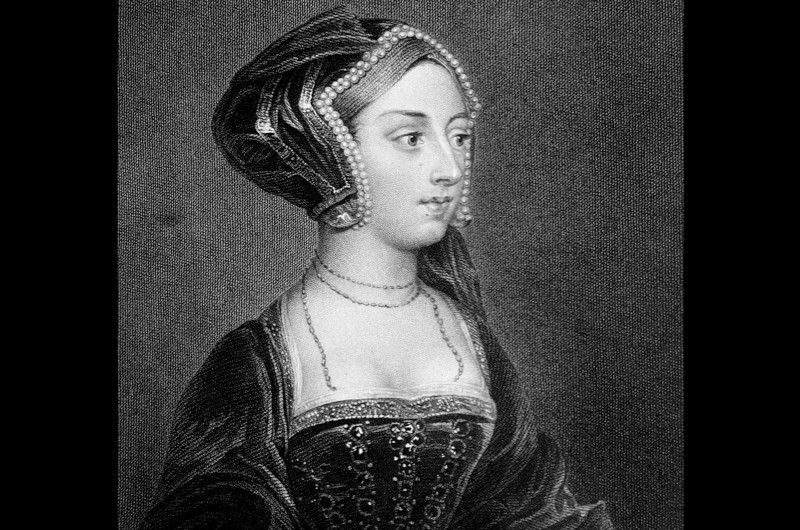 Portrait of Anne Boleyn, the second wife of Henry VIII, who was born in around 1501 in Norfolk and executed by decapitation at Tower Green on 19 May 1536. (Photo by Classic Image/Alamy Stock Photo)