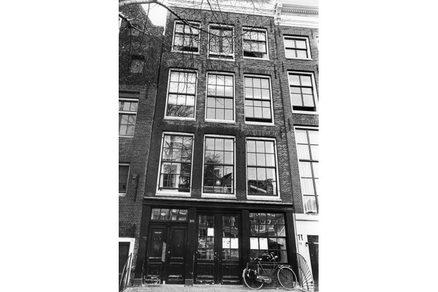 The house in which Anne Frank and her family hid from the Nazis from 1942 to 1944. (Photo by DESK/AFP/Getty Images)
