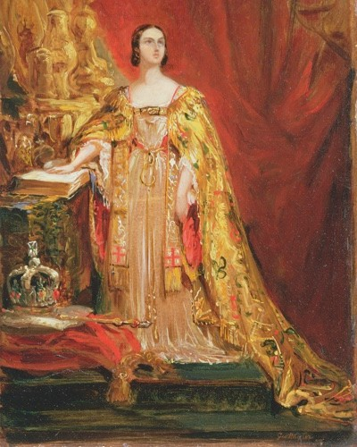 Sir George Hayter's painting of Victoria taking the coronation oath on 28 June 1838. Her reign was to last for an unprecedented 63 years. (Photo by Bridgeman Art Library)