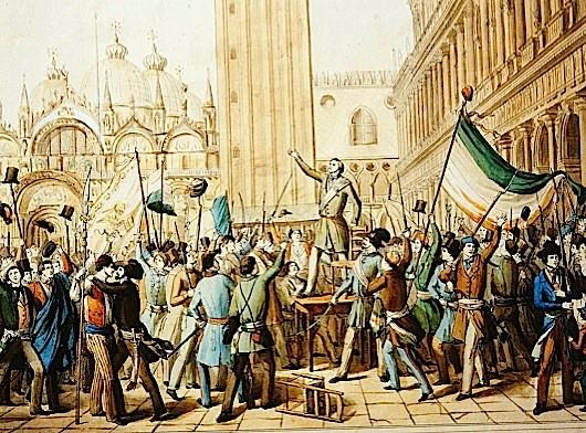 Daniele Manin proclaiming the Republic of Venice, 22 March 1848. (Photo by De Agostini Picture Library/A. Dagli Orti/Bridgeman Images)