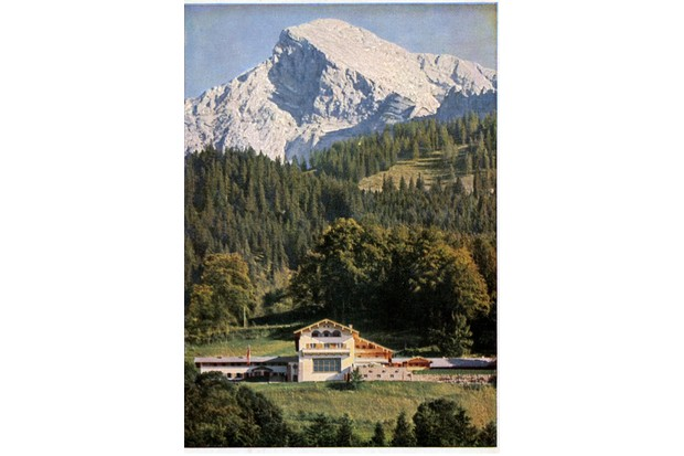 Postcard view by Heinrich Hoffmann of the Berghof, c1936. (United States National Archives, College Park, Maryland)