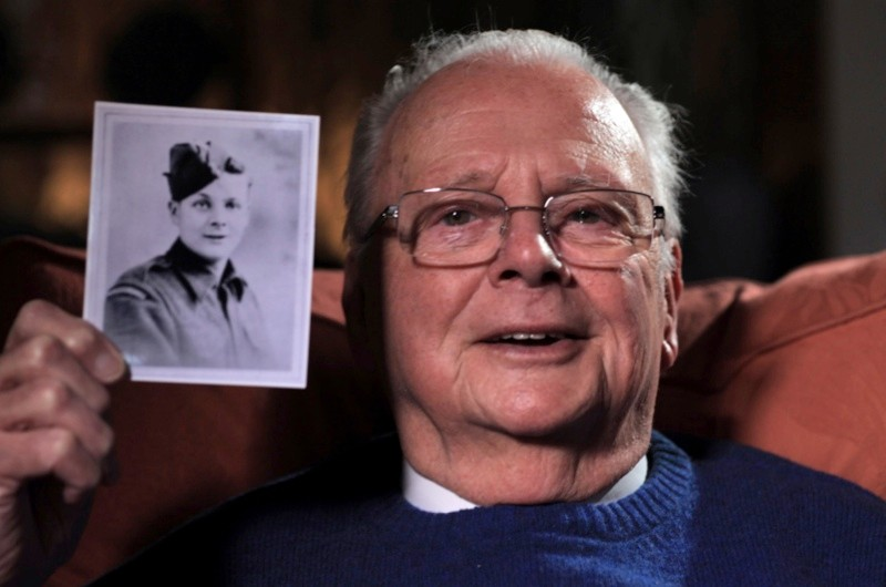 Bill Edwardes, who at the age of 16 joined the army to fight during WW2.
