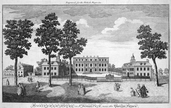 Buckingham House, 1746. Built in 1703, the house forms the architectural core of the present-day Buckingham Palace. (Photo by Hulton Archive/Getty Images)