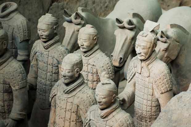 Terracotta Army in Xian, Shaanxi, China