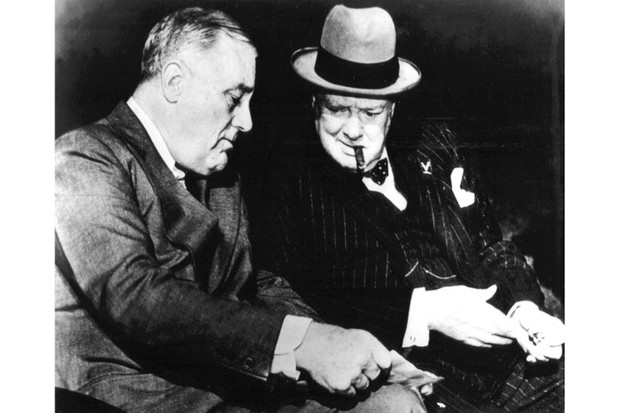 Franklin D Roosevelt and Sir Winston Churchill