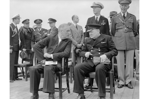 President Franklin D Roosevelt and Prime Minister Winston Churchill, 10 August 1941. (Photo by Lt L C Priest/IWM via Getty Images)