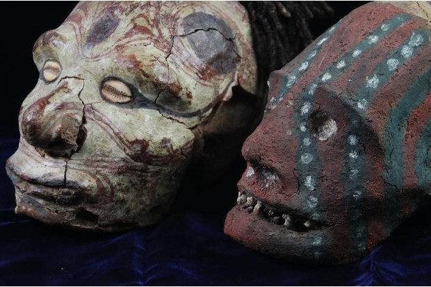 Clay heads from the Duckworth Collection at the University of Cambridge