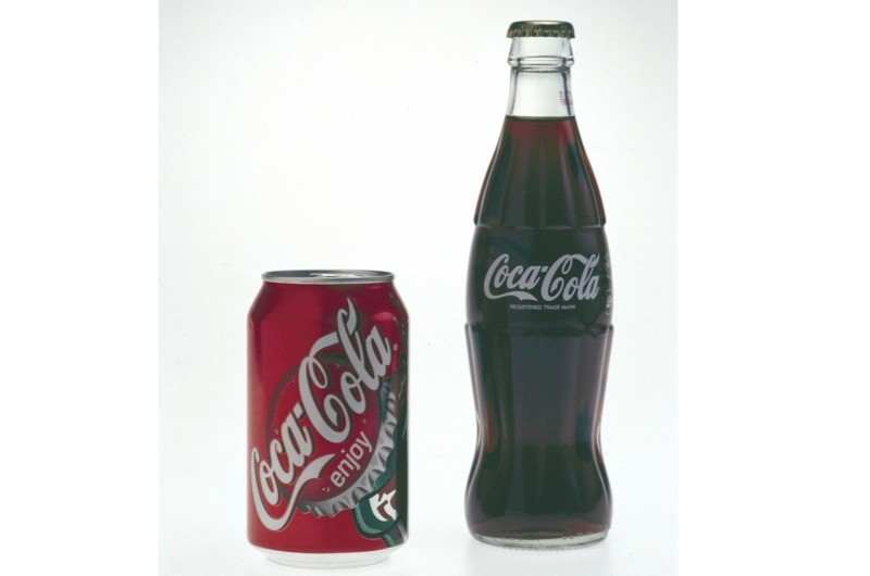 Coca cola bottles from the 1990s