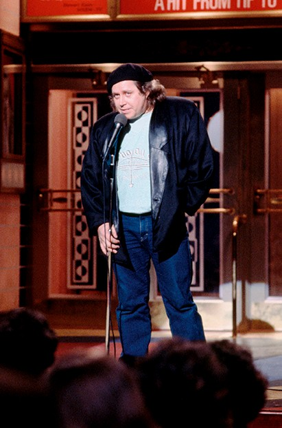 1986 --- Sam Kinison Hosts Saturday Night Live --- Image by © Owen Franken/Corbis