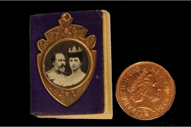 Coronation Bible with penny