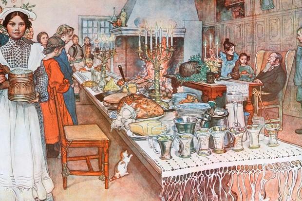 Christmas dinner, 1917 (© imageBROKER / Alamy)
