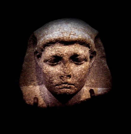 A colossal head of Caesarion (Little Caesar), the son of Cleopatra and Julius Caesar, from the 1st century BC. The head went on show in Los Angeles in 2012. (Photo by World History Archive / Alamy)