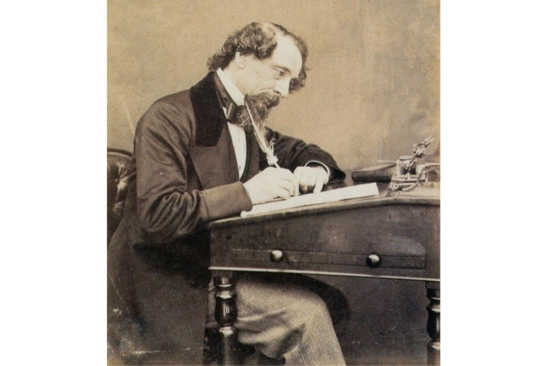The acclaimed English author Charles Dickens. (Photo by Apic/Getty Images)