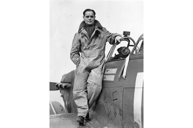 Douglas Bader, who was a prisoner at Dulag Left for a month during 1941, pictured in October 1940. (Photo by Evening Standard/Getty Images)