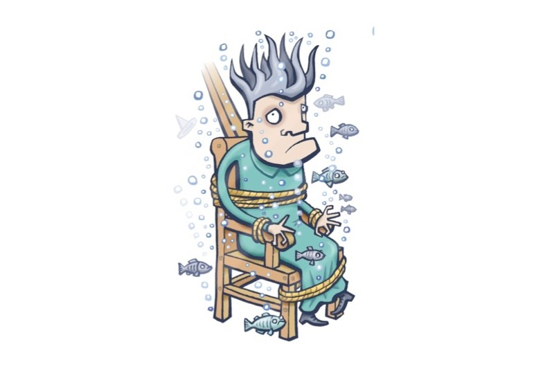 Were ducking stools ever used as punishment for crimes other than witchcraft during the Middle Ages? (Illustration by Glen McBeth)
