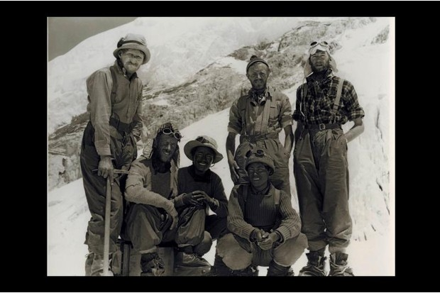A photograph of the Everest team including Edmund Hillary and Tenzing Norway