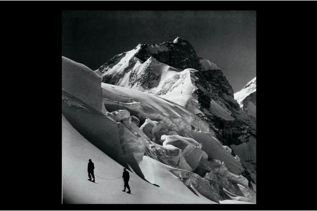 A photograph showing the summit of Mukut Parbat