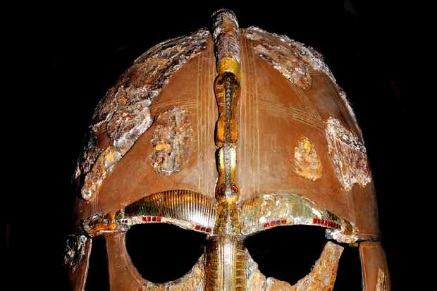 Photo of the Sutton Hoo Anglo Saxon helmet