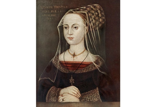 A portrait of Elizabeth Woodville, queen of Edward IV. (Photo by The Print Collector/Print Collector/Getty Images)