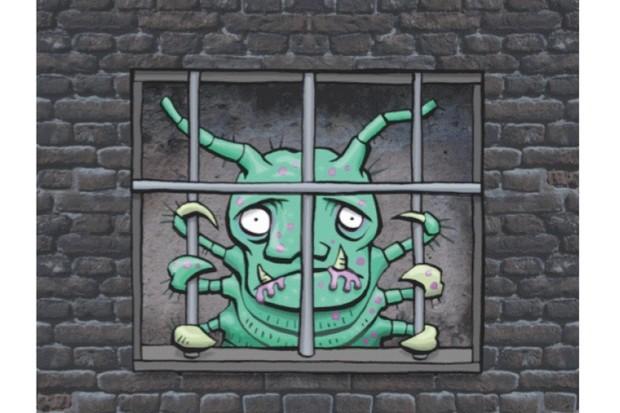 Gaol fever illustration.