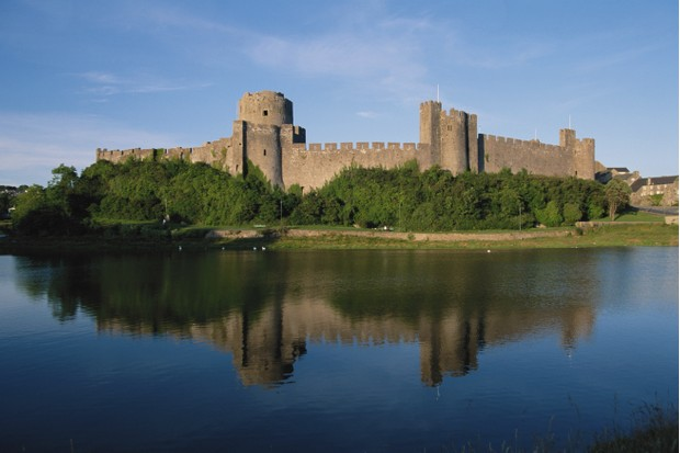Pembroke Castle in South Wales