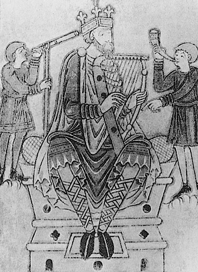 An image of Alfred the Great, king of Wessex, c890. Alfred established the boundaries of the Danelaw in a peace treaty with Viking leader Guthrum. (Photo by Hulton Archive/Getty Images)