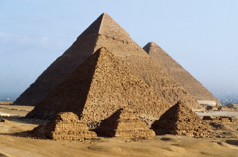 Pyramids at Giza. (DEA/A Vergani/De Agostini/Getty Images)