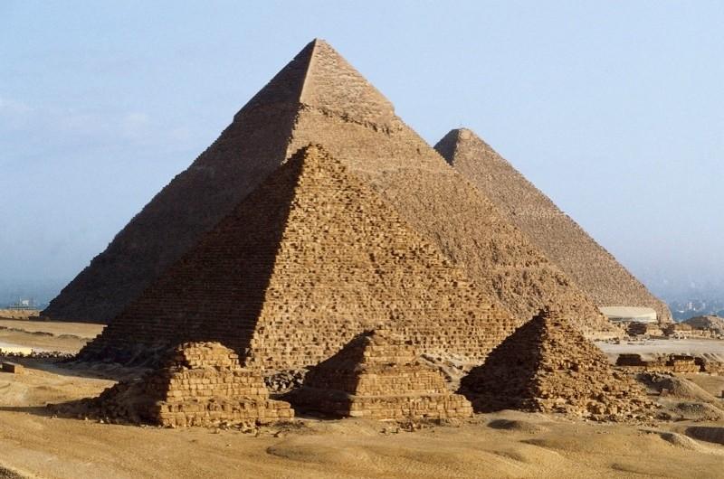 Pyramids at Giza. (DEA/A Vergani/De Agostini/Getty Images)