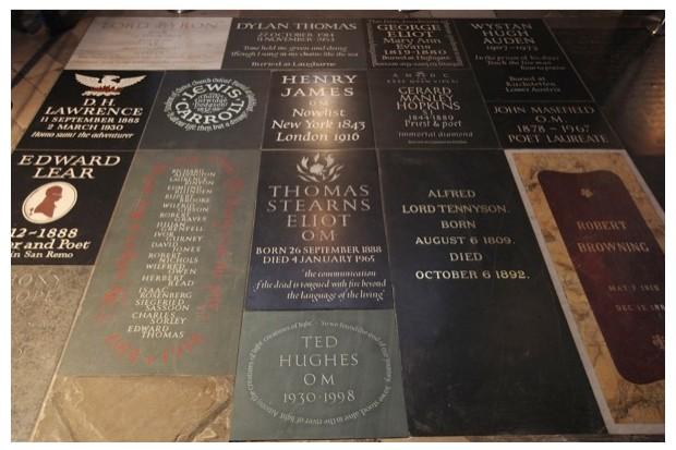 Memorials in Westminster Abbey's Poets' Corner. (Dan Kitwood/Getty Images)